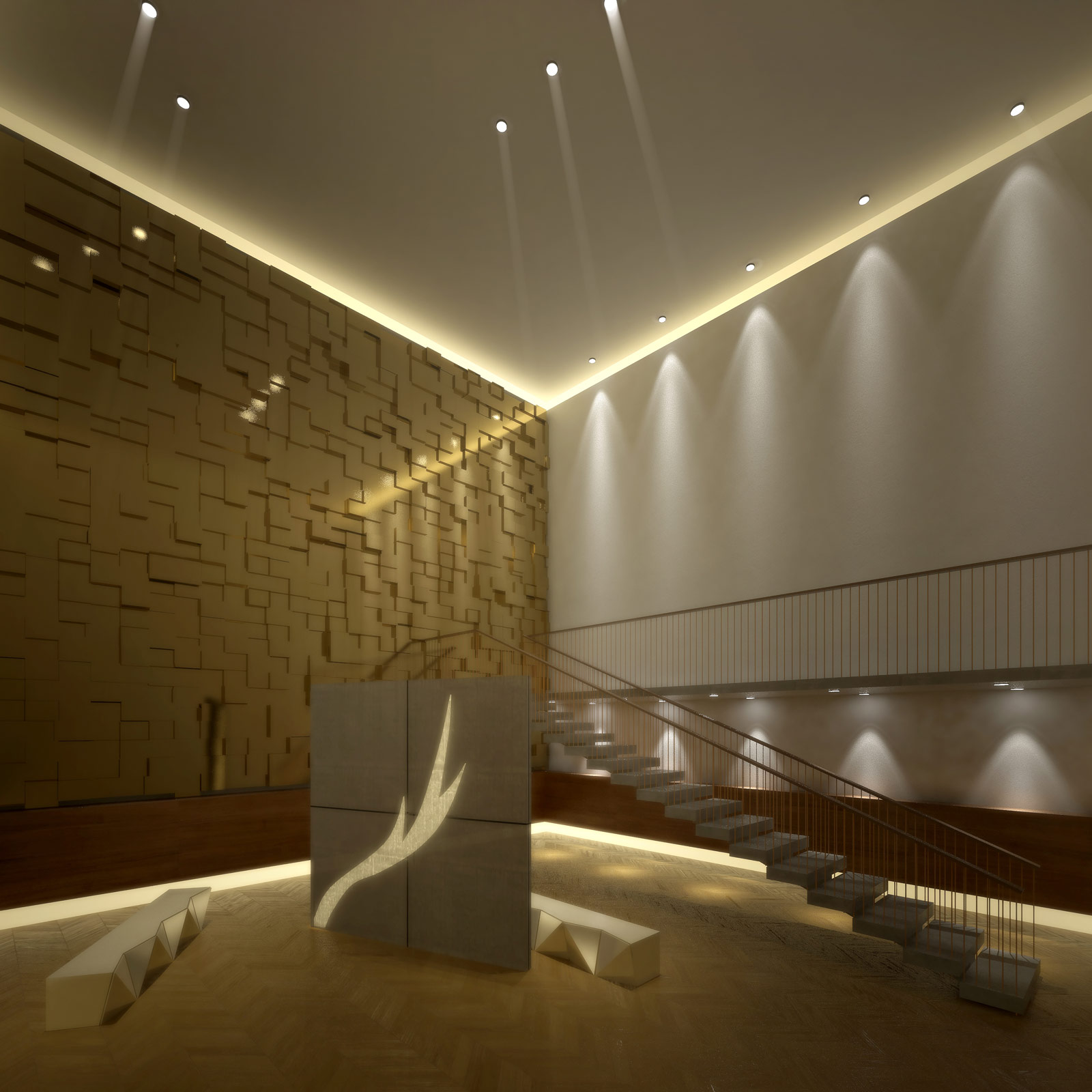 Atara design hinterleuchtete wandfassadeparavent - Zeitungsstander wand design ...